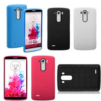 New Grid Design Silicone Hybrid Soft Rubber Case Cover For LG G3 LG G2 Mini