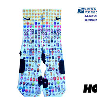 Emoji SAME DAY SHlPPlNG!! Custom Nike Elite Socks All Sizes