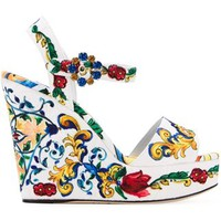 Dolce & Gabbana 'bianca' Wedge Sandals - Urbanist - The Khan - Farfetch.com