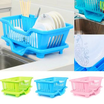 Kitchen Dish Rack Bowl/Cup/Spoon/Fork Drainer Drying Rack Washing Holder Sorting Basket
