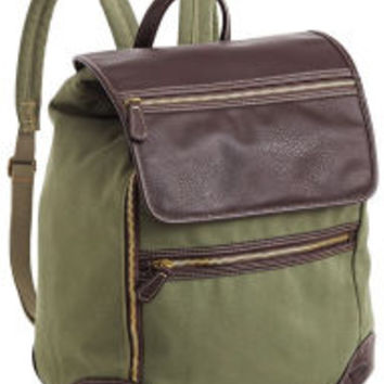 Baybrook Safari Green Cotton Canvas Backpack 11