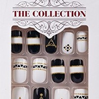 """**NEW 2015** Kiss """"The Collection Nails"""" (SSC01 v2) Medium Design Nails with Glue"""