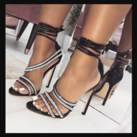 Hot style hot selling diamond with sexy heels