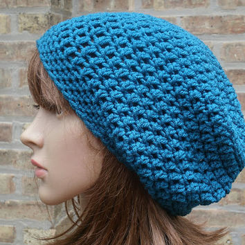 Slouchy Hat - The Eden in Mallard - Slouchy Beanie - Mens Hat - Womens Hat - Gaming Hat