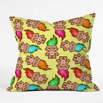 Chobopop Troll Pattern Throw Pillow