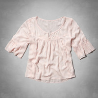 pretty shine peasant top