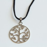Tree of Life Stainless Steel Charm Pendant Necklace, Sterling Si
