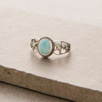 Larimar Sea Star Ring