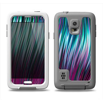 The Pink & Blue Vector Swirly HD Strands Samsung Galaxy S5 LifeProof Fre Case Skin Set