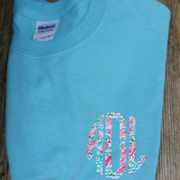 Preppy Lilly Inspired Small Monogram T-Shirt