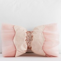 The Emily & Meritt Embellished Bow Shaped Decorative Pillow