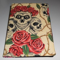 Folksy :: Buy Reversible fabric journal cover