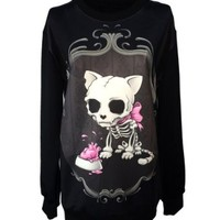 Unisex Gothic Clothing Zombie Princess Hunter Sweatshirts Pullovers Sweater.