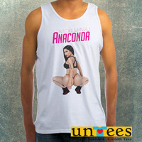 Nicki Minaj Anaconda Album Cover Clothing Tank Top For Mens