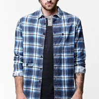 Billabong Garage Collection Bleeker Long Sleeve Flannel Button Up Shirt - Mens Shirts - Blue