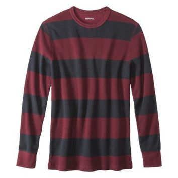 Merona® Men's Long Sleeve Waffle Knit Thermal Crew - Assorted Colors and Stripes