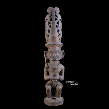 Nias Sculpture Royal Ancestor Figure From Central Nias Indonesia Tribal Ethnographic Artwork Primitive Collectible Asian Culture