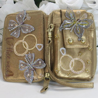 Bride Gifts - Bachelorette Gifts - Phone Wallet - Iphone 4 Case - Smartphone Case - Cell Phone Case - Wallet Wristlet - Phone Wristlet