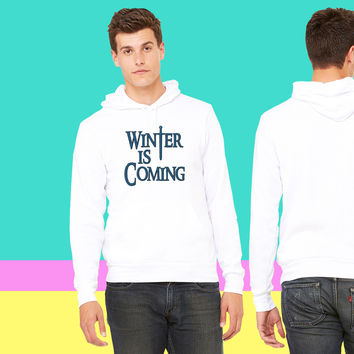 Winter is Coming Game of Thrones sweatshirt hoodiee