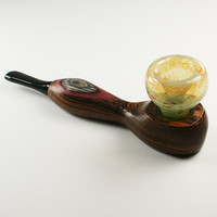 Wood and Glass Hybrid Pipe H1 (The Mill)