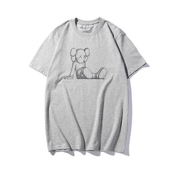 Hot Tunic 19SS KAWS HOLIDAY TAIPEI KAWS Women Man Fashion Print Sport Shirt Top Tee