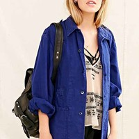 Urban Renewal Vintage Faded Blue Work Jacket- Blue