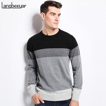 Winter Clothing Men's Sweaters O-Neck Slim Fit Men Pullover Cotton Knitted Sweater Men