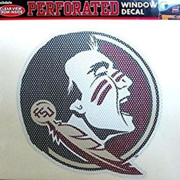 ONETOW NCAA Florida State Seminoles 12x12 Perforated Decal