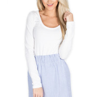 Scalloped Seersucker Skirt – Lauren James Co.