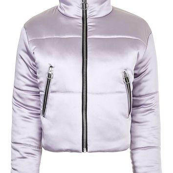 Crop Funnel Puffer Jacket | Topshop