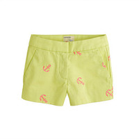 Citrus Azalea Girls' Frankie short in embroidered anchor - patterns - Girl's shorts - J.Crew