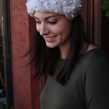 Touch of Pearl Knitted Headband