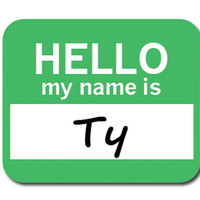 Ty Hello My Name Is Mouse Pad