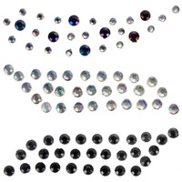 ROMWE | 1 Pair Temporary Eye Rock Crystal Glitter Eye Tattoos Sticker, The Latest Street Fashion