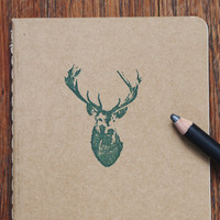 So Deer moleskine, buck nature pocket notebook antlers