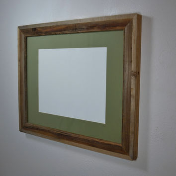 16x20 earth friendly gallery style wood picture or poster frame complete with mat