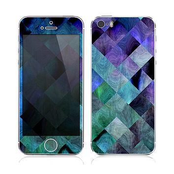 The Multicolored Tile-Swirled Pattern Skin for the Apple iPhone 5s