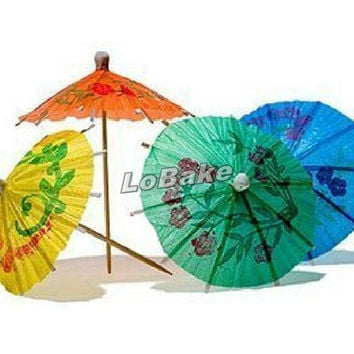 Multi-color 10cm length Paper mini umbrella Cocktail Drink Stick Stirrer Party Decor for drinking
