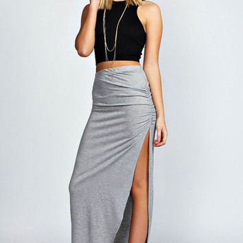 Black and Light Grey Two-piece Dress