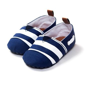 0-18 Months Newborn Baby Shoes Cotton Striped Kids Toddler Crib Shoes Soft Soled First Walkers LY7