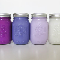 Purple Ombre Mason Jar Set