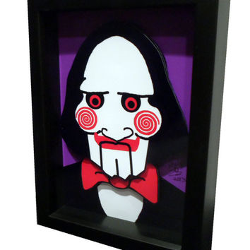 Saw Movie Poster Jigsaw Puppet 3D Pop Art