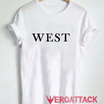 West T Shirt Size XS,S,M,L,XL,2XL,3XL
