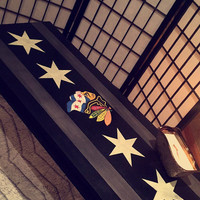 Chicago Blackhawks Coffee Table - Hand Painted - LOCAL PICK UP!