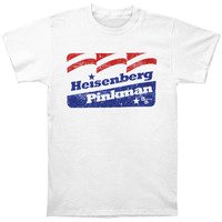Breaking Bad Men's  Flag T-shirt White Rockabilia