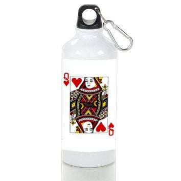 Gift Sport Bottles | Card Queen Of Hearts Aluminum Sport Bottles