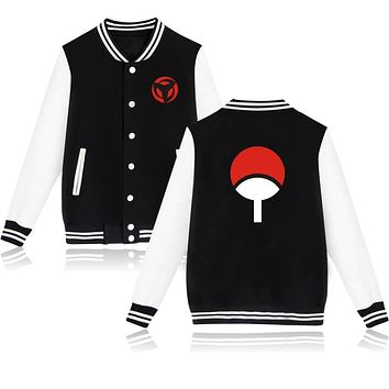 High Quality Hip Hop Baseball Jacket NARUTO Design Capless Sweatshirt 4 Colors Plus Size 4XL Hoodies Unisex Brand Clothing