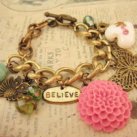 Secret Garden charm bracelet by trinketsforkeeps on Etsy