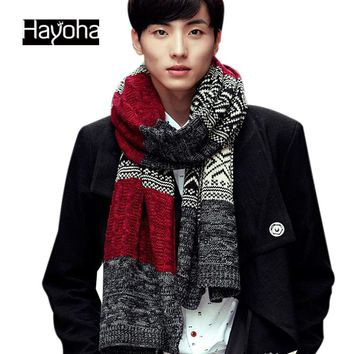 Men's 2017 new Autumn and winter fashion scarves men and women warm wool scarves cashmere scarf