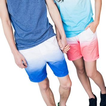 High Quality Mens Couple Shorts Board Shorts Summer Causal Beach Bermuda Short Pants Tie dye Women Shorts Boardshorts Big Size